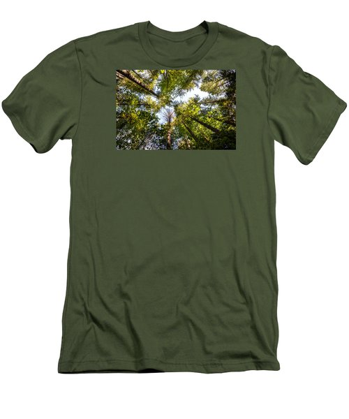 Reaching For Sky Men's T-Shirt (Athletic Fit)