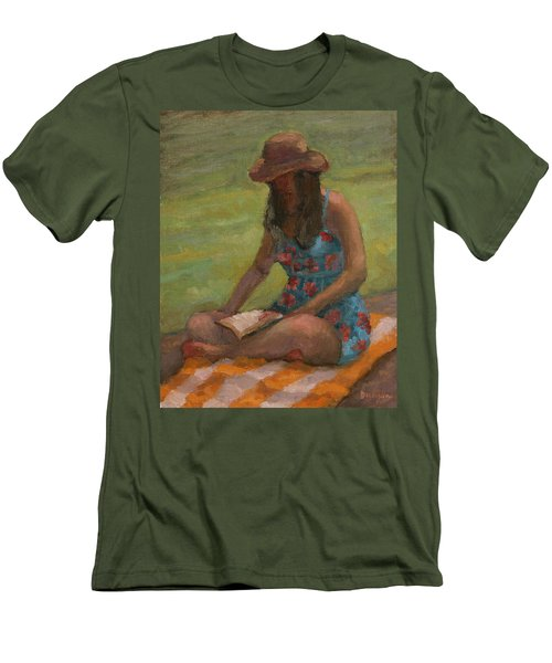 Reading At Jersey Valley Men's T-Shirt (Athletic Fit)