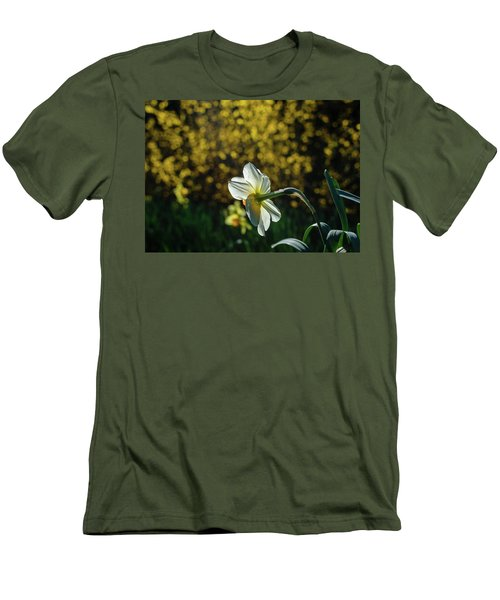 Rear View Daffodil Men's T-Shirt (Athletic Fit)