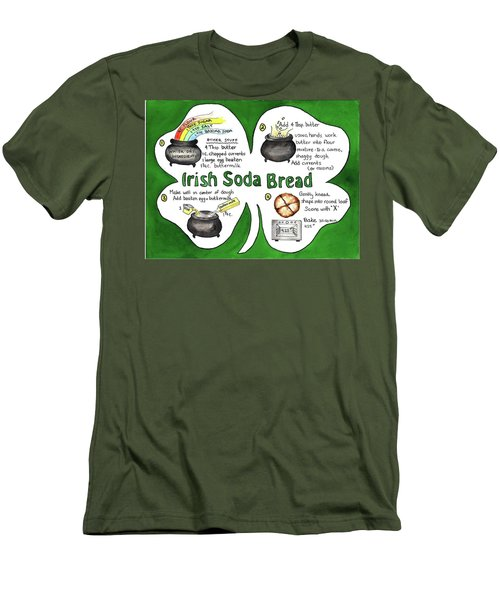 Recipe - Irish Soda Bread Men's T-Shirt (Slim Fit)