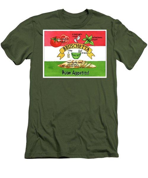 Recpe-bruschetta Men's T-Shirt (Slim Fit)