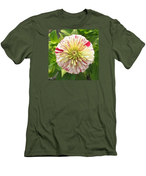 Red And White Flower Men's T-Shirt (Athletic Fit)