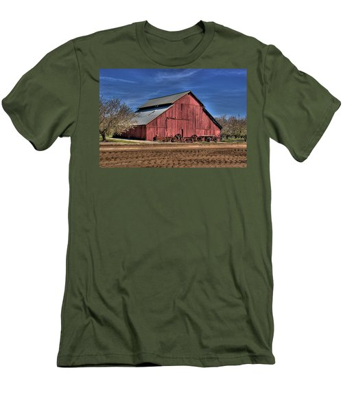 Men's T-Shirt (Slim Fit) featuring the photograph Red Barn by Jim and Emily Bush