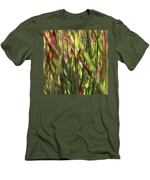 Red Blades Among The Green Men's T-Shirt (Athletic Fit)