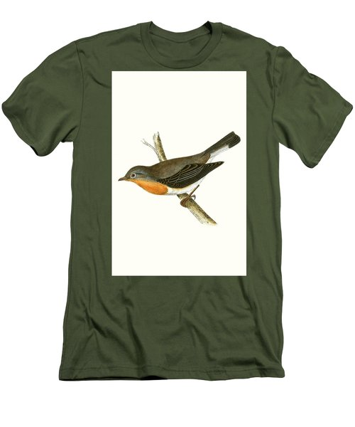 Red Breasted Flycatcher Men's T-Shirt (Slim Fit) by English School