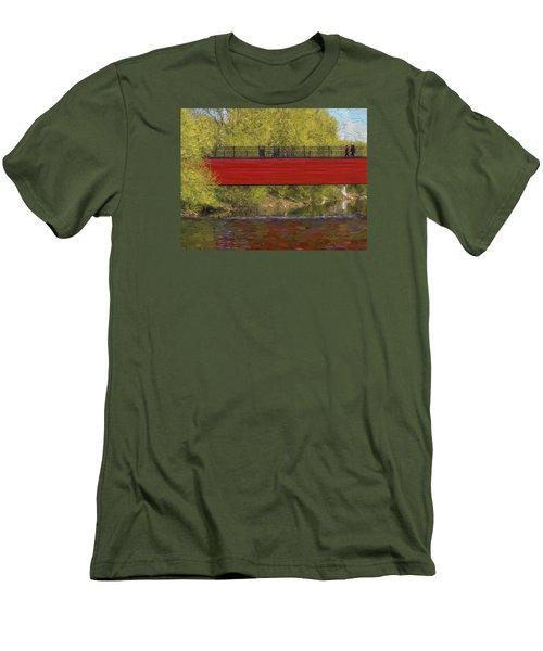 Red Bridge Men's T-Shirt (Slim Fit) by Vladimir Kholostykh