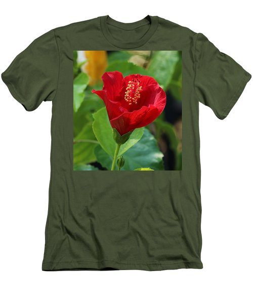 Men's T-Shirt (Athletic Fit) featuring the photograph Red Elegance by Sheila Brown