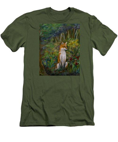 Red Fox Men's T-Shirt (Slim Fit) by FT McKinstry