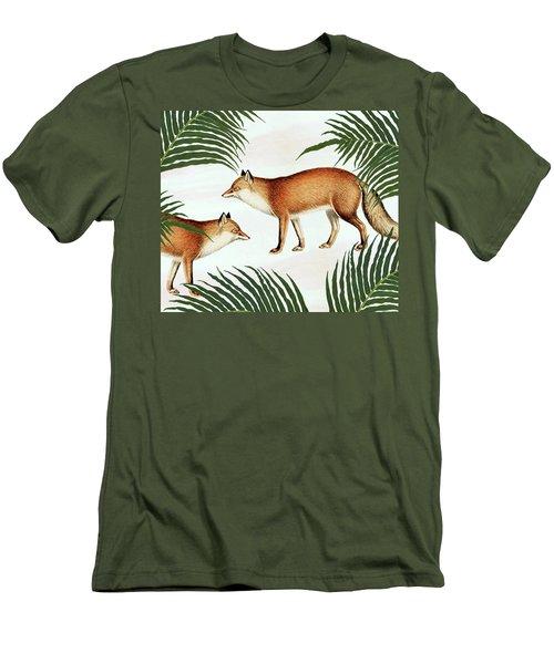 Red Fox Pair Men's T-Shirt (Slim Fit) by Uma Gokhale