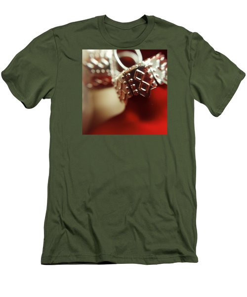 Red Ornament Men's T-Shirt (Slim Fit) by Bonnie Bruno