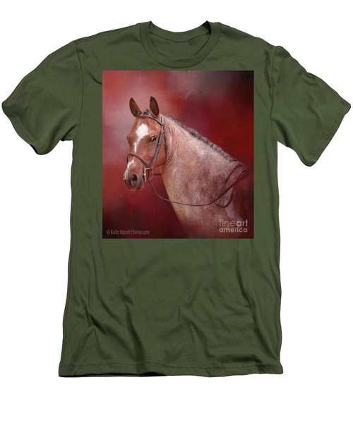 Red Roan Men's T-Shirt (Slim Fit) by Kathy Russell