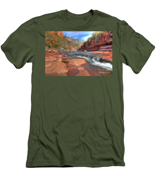 Red Rock Sedona Men's T-Shirt (Slim Fit) by Kelly Wade