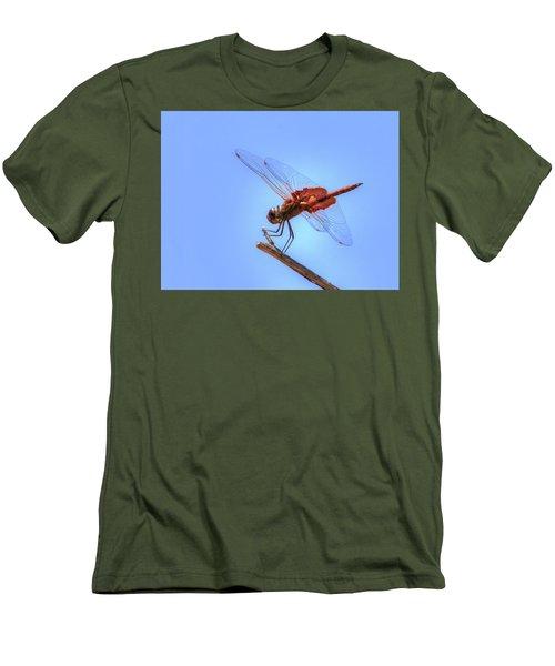Red Saddlebag Dragonfly Men's T-Shirt (Athletic Fit)