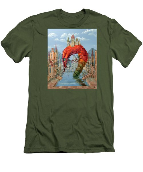 Red Shrimp Men's T-Shirt (Athletic Fit)