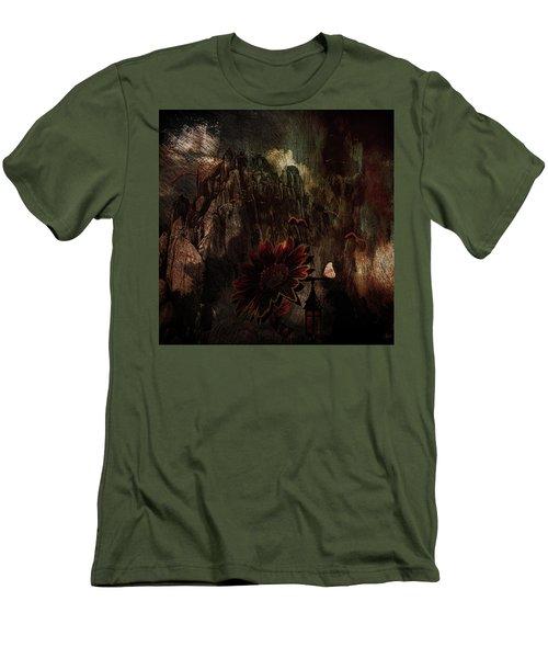 Red Sunflower Men's T-Shirt (Slim Fit)