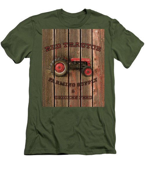 Red Tractor Farming Supply Men's T-Shirt (Athletic Fit)