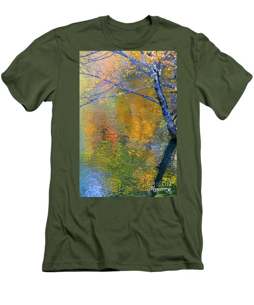 Reflecting Autumn Men's T-Shirt (Slim Fit) by Mariarosa Rockefeller