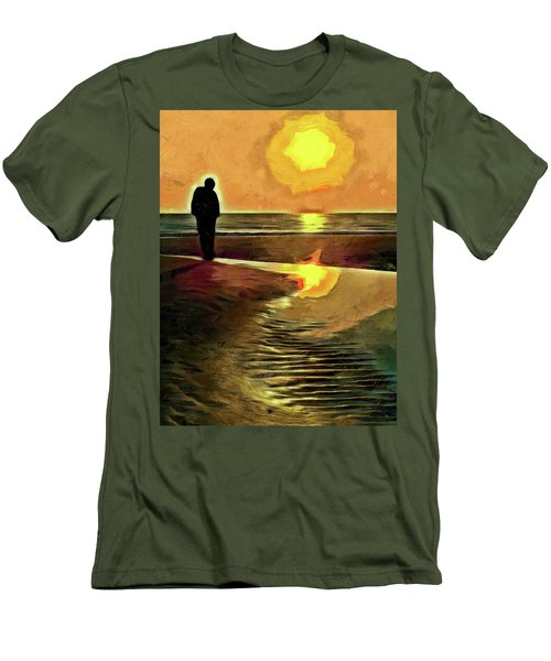 Reflecting On The Day Men's T-Shirt (Slim Fit) by Trish Tritz