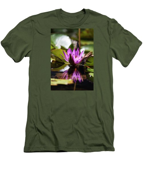 Men's T-Shirt (Slim Fit) featuring the photograph Reflection In Fuchsia by Suzanne Gaff