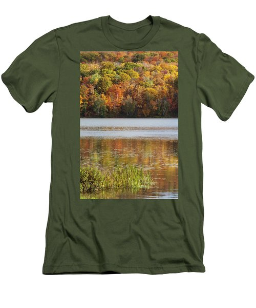 Reflection Of Autumn Colors In A Lake Men's T-Shirt (Athletic Fit)