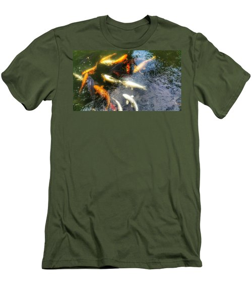 Reflections And Fish 5 Men's T-Shirt (Slim Fit) by Isabella F Abbie Shores FRSA