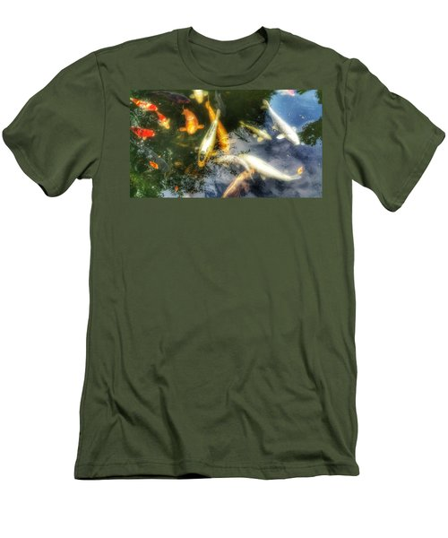 Reflections And Fish 7 Men's T-Shirt (Slim Fit) by Isabella F Abbie Shores FRSA