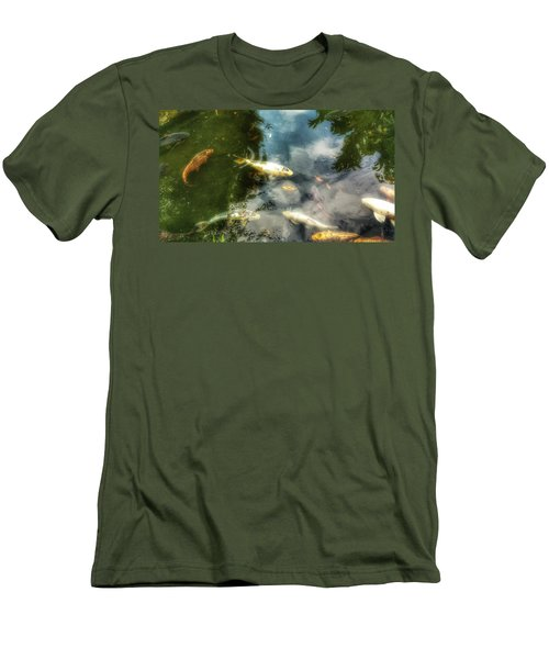 Reflections And Fish  Men's T-Shirt (Slim Fit) by Isabella F Abbie Shores FRSA