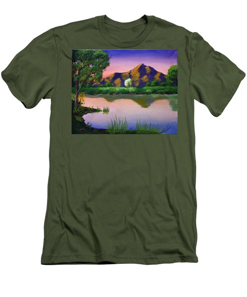 Reflections In The Breeze Men's T-Shirt (Slim Fit)