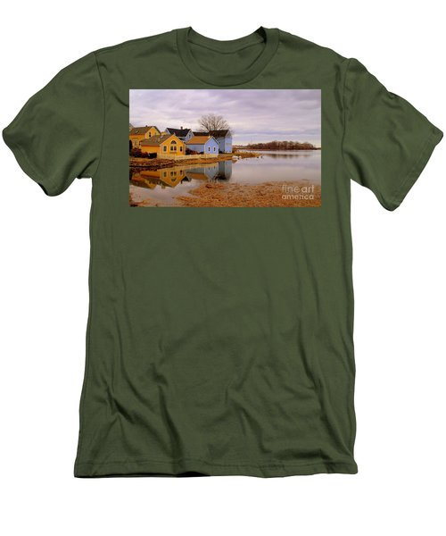 Reflections In The Harbor Men's T-Shirt (Athletic Fit)