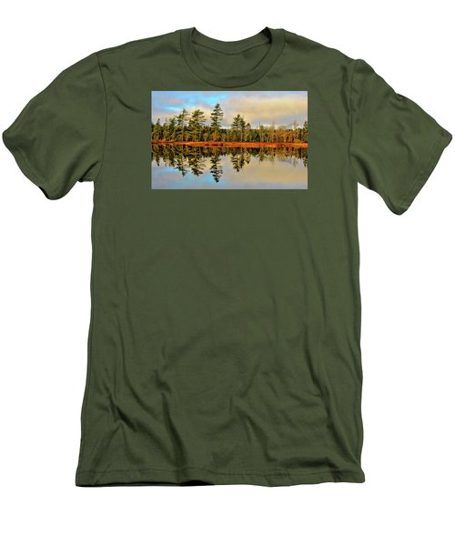 Men's T-Shirt (Slim Fit) featuring the photograph Reflections by Kathleen Sartoris