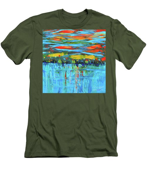 Reflections Sky And Landscape Abstract Men's T-Shirt (Athletic Fit)