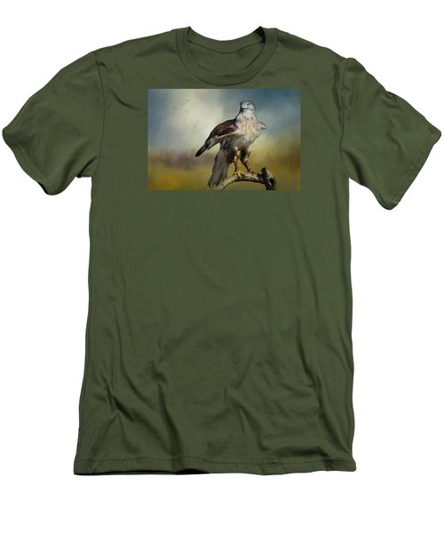 Regal Bird Men's T-Shirt (Slim Fit) by Barbara Manis