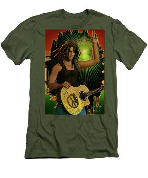 Reggae Peace Man Men's T-Shirt (Athletic Fit)