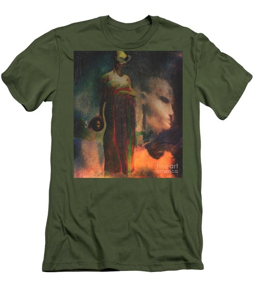 Men's T-Shirt (Slim Fit) featuring the digital art Reincarnation by Alexis Rotella