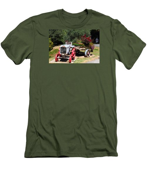 Men's T-Shirt (Slim Fit) featuring the photograph Renault Flower Bed by Richard Patmore