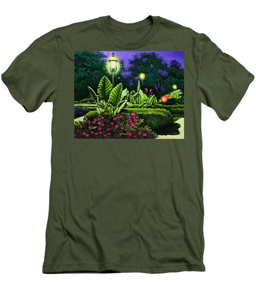 Rendezvous In The Park Men's T-Shirt (Slim Fit) by Michael Frank