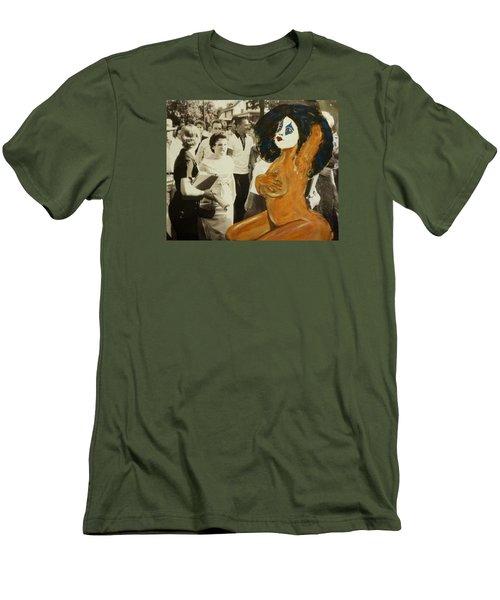 Renee Segregationist Men's T-Shirt (Slim Fit) by Deedee Williams