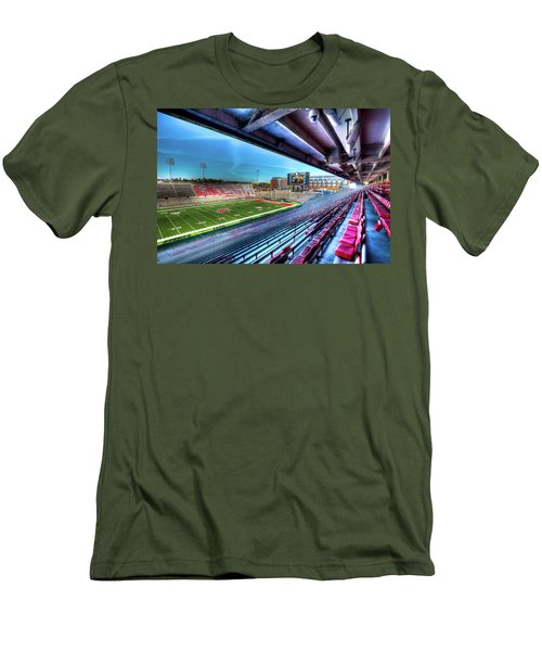 Renovated Martin Stadium Men's T-Shirt (Slim Fit) by David Patterson