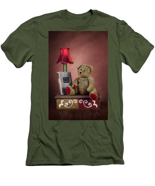 Men's T-Shirt (Slim Fit) featuring the photograph Required Reading by Tom Mc Nemar