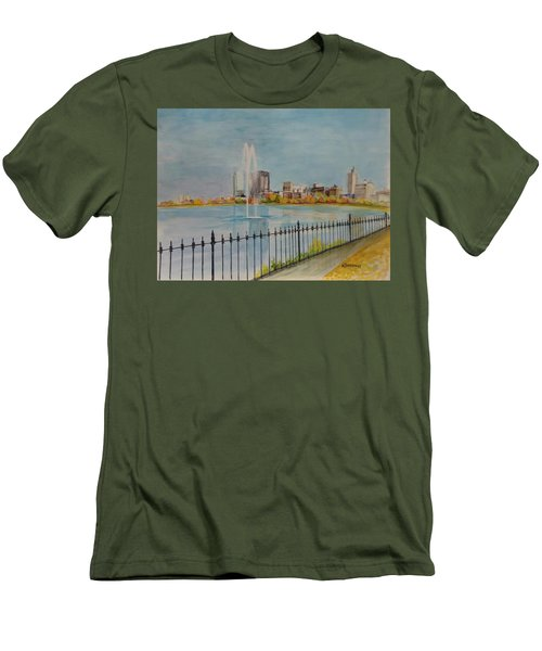 Reservoir In Central Park Men's T-Shirt (Athletic Fit)