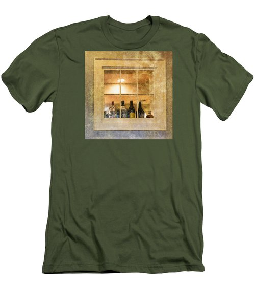 Men's T-Shirt (Slim Fit) featuring the photograph Restaurant Window by Tom Singleton