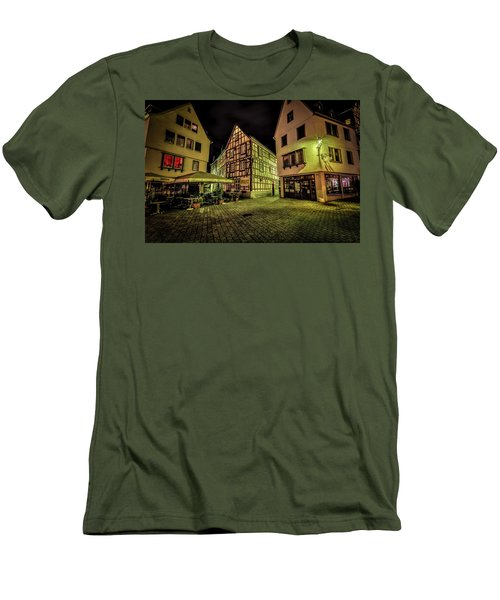 Men's T-Shirt (Athletic Fit) featuring the photograph Restaurante Roseneck by David Morefield