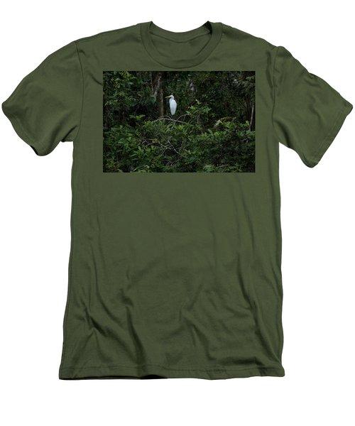 Resting Egret Men's T-Shirt (Slim Fit) by James David Phenicie