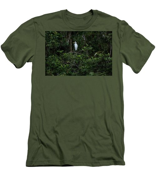 Resting Egret Men's T-Shirt (Athletic Fit)