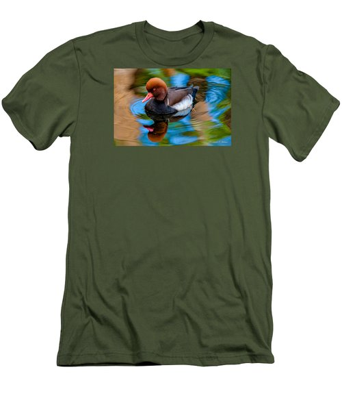 Resting In Pool Of Colors Men's T-Shirt (Slim Fit) by Christopher Holmes