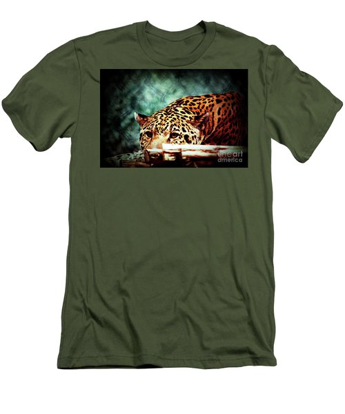 Resting Jaguar Men's T-Shirt (Athletic Fit)
