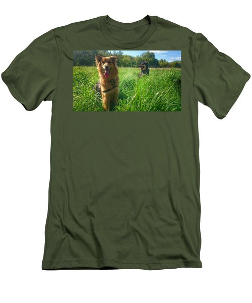 Resting Men's T-Shirt (Slim Fit) by Isabella F Abbie Shores FRSA