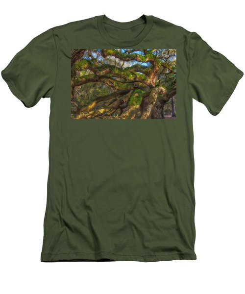 Men's T-Shirt (Slim Fit) featuring the photograph Resurrection Fern Dons Angel Oak by Patricia Schaefer