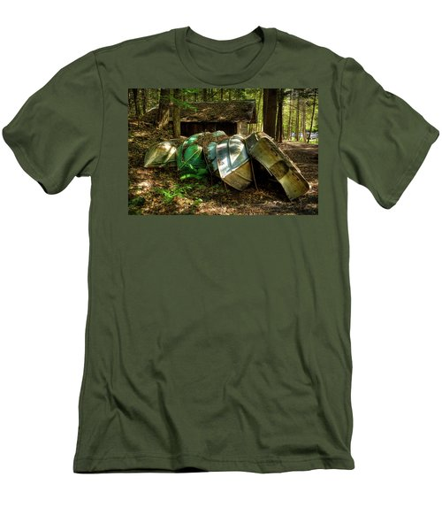 Men's T-Shirt (Athletic Fit) featuring the photograph Retired Rowboats by David Patterson