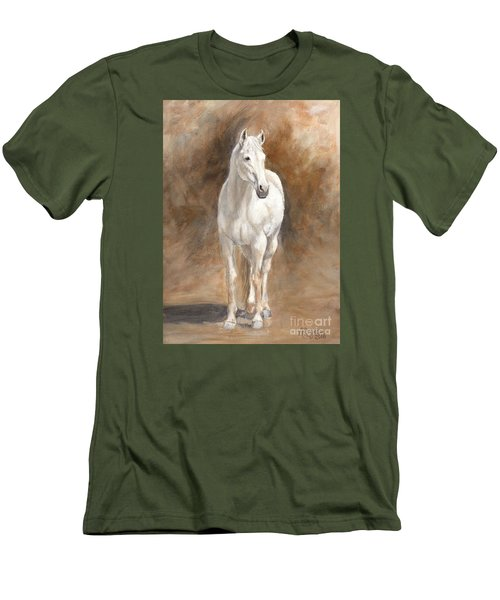 Retired Thoroughbred Race Horse Rustic Men's T-Shirt (Athletic Fit)